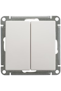 Переключатель W59 VS616-256-1-86 2-клавишный 16A, белый
