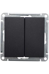 Переключатель W59 VS610-256-6-86 2-клавишный 10A, ч.бархат