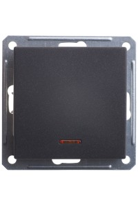 Переключатель W59 VS616-157-6-86 с/инд 16A, ч.бархат