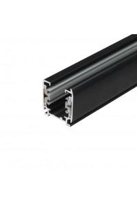 Шинопровод для спотов 4L 1,5м 4X5 (трехфазный, 4 провода, черный) 62767