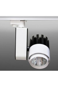 Трековый светодиодный светильник Track-44 (220V, черно-белый корпус, 30W, однофазный ) 82909