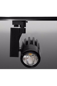 Трековый светодиодный светильник Track-45 (220V, черный корпус, 40W, однофазный ) 82912