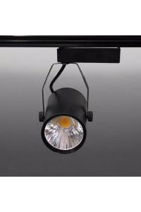 Трековый светодиодный светильник Track-49 (220V, черный корпус, 10W, однофазный ) 82921