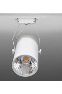 Трековый светодиодный светильник Track-53 (220V, белый корпус, 20W, однофазный) 82929
