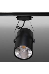 Трековый светодиодный светильник Track-76 (220V, черный корпус, 30W, однофазный) 82931