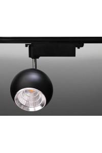 Трековый светодиодный светильник Track-55 (220V, черный корпус, 15W, однофазный) 82933
