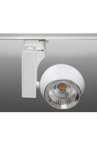 Трековый светодиодный светильник Track-57 (220V, белый корпус, 30W, однофазный) 82938