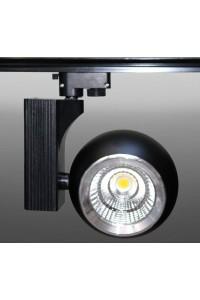 Трековый светодиодный светильник Track-58 (220V, черный корпус, 30W, однофазный) 82940