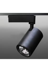 Трековый светодиодный светильник Track-63 (220V, черный корпус, 20W, однофазный) 99708