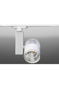 Трековый светодиодный светильник Track-66 (220V, белый корпус, 20W, однофазный) 99714