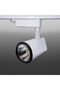 Трековый светодиодный светильник Track-93 (220V, бело-черный корпус, 10W, однофазный) 99751