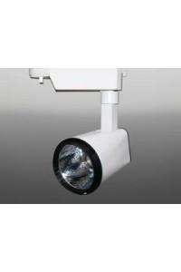 Трековый светодиодный светильник Track-94 (220V, бело-черный корпус, 20W, однофазный) 99753