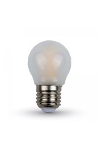 Филаментная лампа V-TAC 4 ВТ, 400LM, матовое стекло, G45, Е27, 2700К