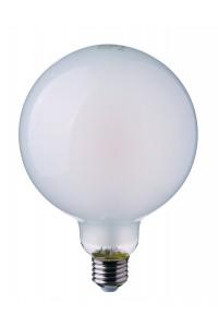 Филаментная лампа V-TAC 7 ВТ, 800LM, G125, матовое стекло, Е27, 2700К