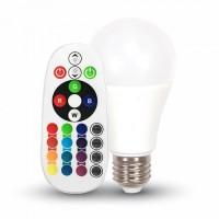 Светодиодная лампа RGB С ПУЛЬТОМ V-TAC 6 ВТ, 470LM, А60, Е27, 2700К