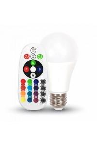 Светодиодная лампа RGB С ПУЛЬТОМ V-TAC 6 ВТ, 470LM, А60, Е27, 4000К