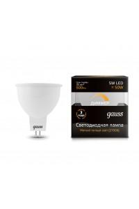 Светодиодная лампа Gauss LED MR16 GU5.3-dim 5W 500lm 3000K Диммируемая 1/10/100