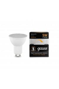 Светодиодная лампа Gauss LED MR16 GU10-dim 5W 500lm 3000K Диммируемая 1/10/100