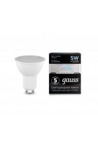 Светодиодная лампа Gauss LED MR16 GU10-dim 5W 530lm 4100K Диммируемая 1/10/100