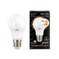 Светодиодная лампа Gauss LED A60 10W E27 880lm 2700K step dimmable 1/10/50
