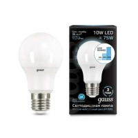 Светодиодная лампа Gauss LED A60 10W E27 920lm 4100K step dimmable 1/10/50