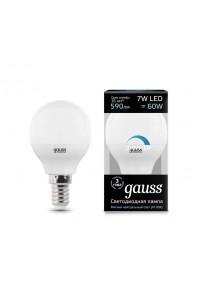 Светодиодная лампа Gauss LED G45-dim E14 7W 590lm 4100К Диммируемая 1/10/100