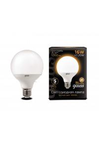 Светодиодная лампа Gauss LED G95 E27 16W 1360lm 3000K 1/32