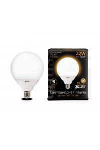 Светодиодная лампа Gauss LED G125 E27 22W 1780lm 3000K 1/24