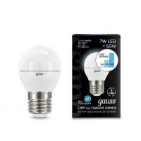 Светодиодная лампа Gauss LED G45 E27 7W 550lm 4100K step dimmable 1/10/100