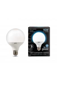Светодиодная лампа Gauss LED G95 E27 16W 1400lm 4100K 1/32