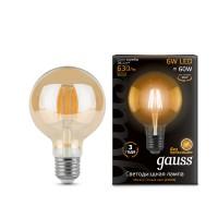 Светодиодная лампа Gauss LED Filament G95 E27 6W Golden 550lm 2400K 1/20