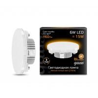 Светодиодная лампа Gauss LED GX53 6W 460lm 3000K 1/10/50