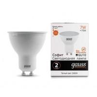 Светодиодная лампа Gauss LED Elementary MR16 GU10 7W 530lm 3000К 1/10/100