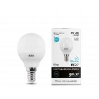 Светодиодная лампа Gauss LED Elementary G45 6W E14 450lm 4100K 1/10/100