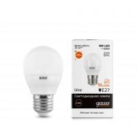 Светодиодная лампа Gauss LED Elementary G45 6W E27 420lm 3000K 1/10/100