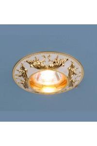 Встраиваемый светильник Elektrostandard 7217 MR16 WHG белый/золото 4690389052958