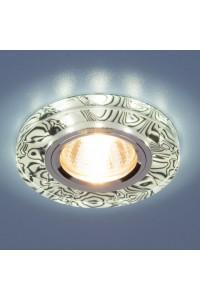 Встраиваемый светильник с двойной подсветкой Elektrostandard 8371 MR16 белый/черный 4690389060632