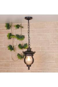 Уличный подвесной светильник Elektrostandard Barrel H черное золото GL 1025H 4690389122064